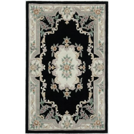 New Aubusson Black 8' x 11'