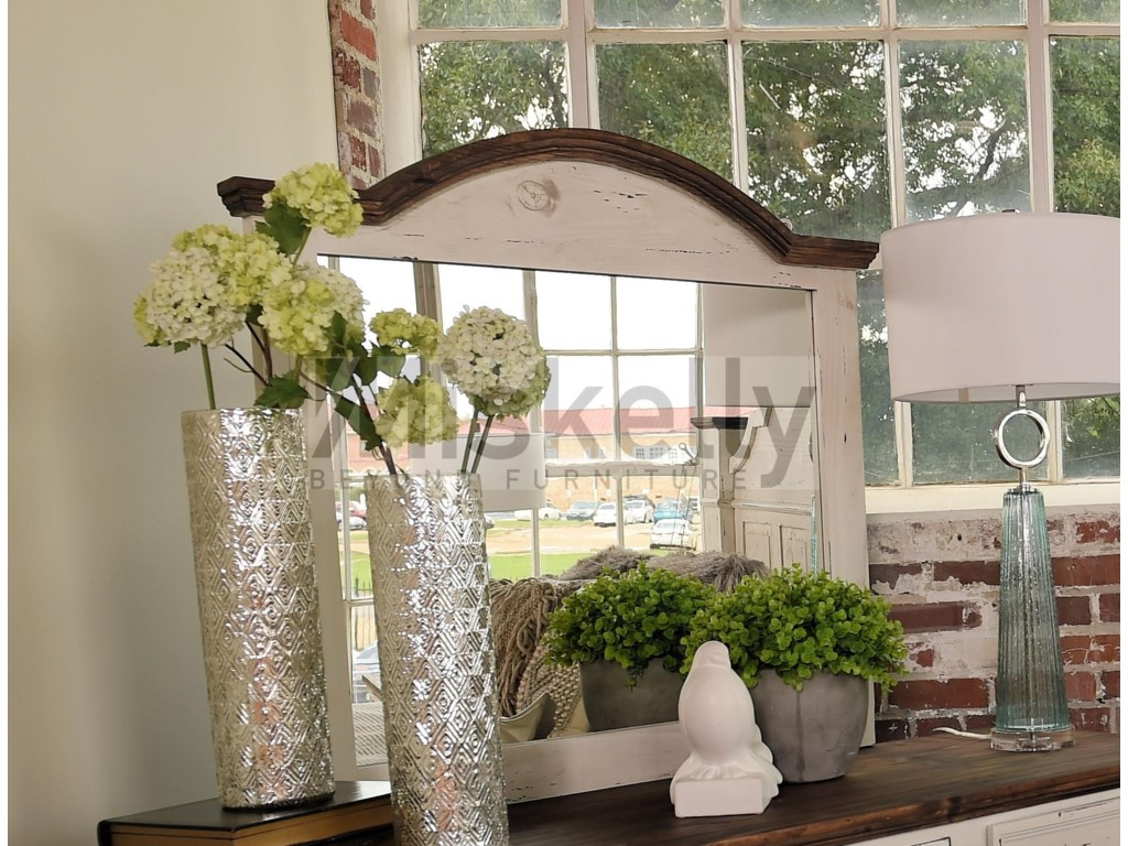 Rustic Imports GRANDECurved Top Mirror