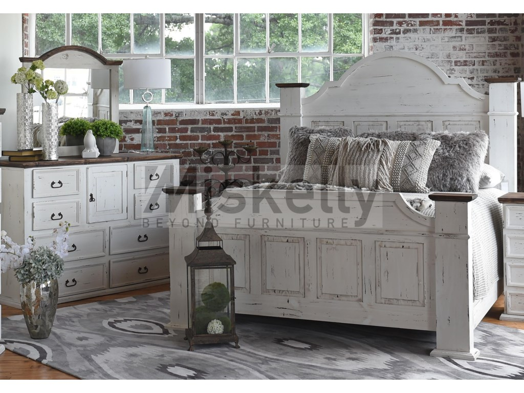 Rustic Imports GRANDEQueen Bed, Dresser and Mirror