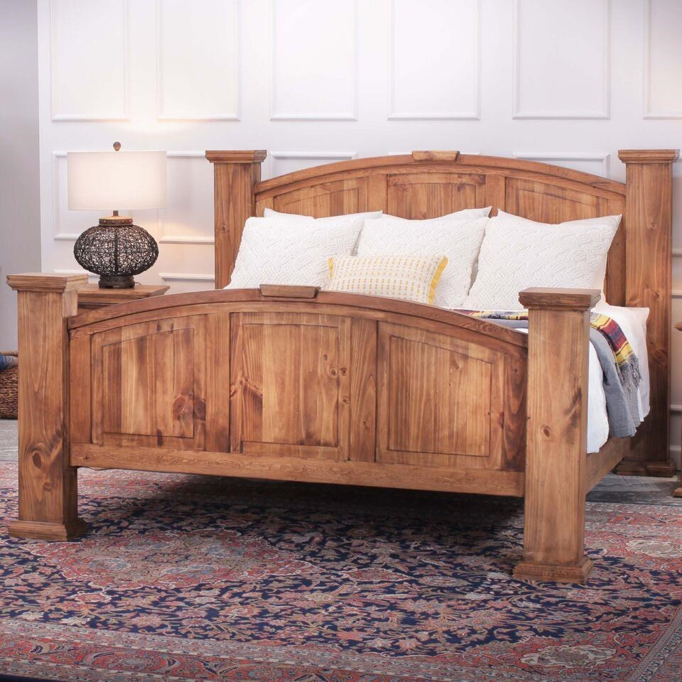 Rustic Imports Rustic MansionKing Solid Pine Bed ...
