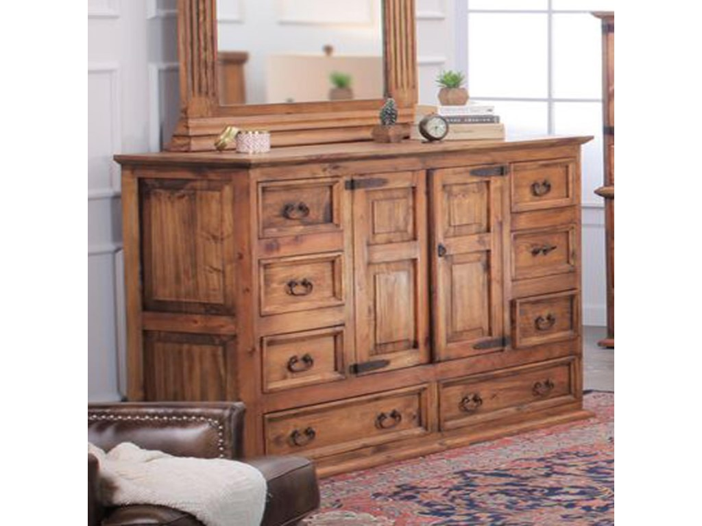 Rustic imports rustic mansionsolid wood rustic pine dresser