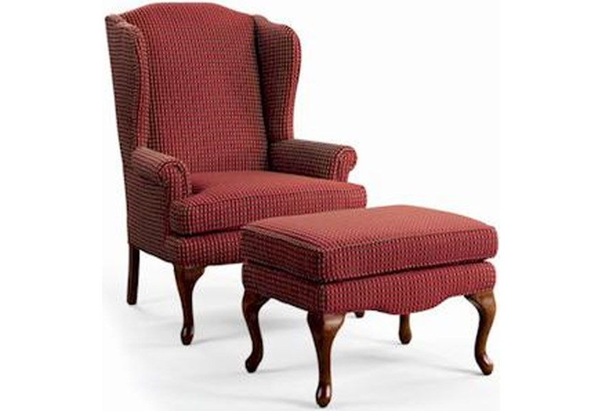 Annie Queen Anne Wing Chair And Ottoman