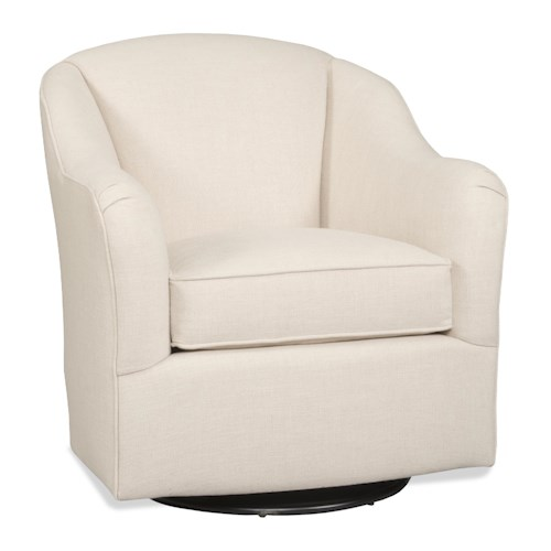 Sam Moore Armand Casual Swivel Chair with English Arms