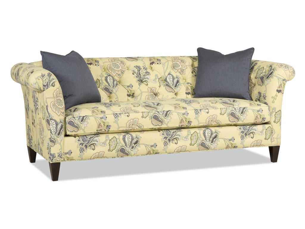 Sam Moore Astrid 7030 Traditional Bench Sofa With Tufted Back Dunk Bright Furniture