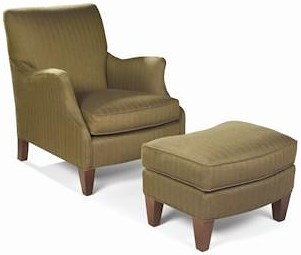 Sam Moore Aunt Jane  Upholstered Club Chair & Ottoman