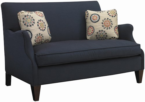 Sam Moore Aunt Jane  Contemporary Settee with Romantic Curved Arm