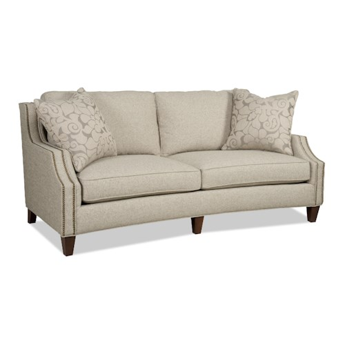 Sam Moore Austin Contemporary Two Over Two Sofa with Nailhead Trim