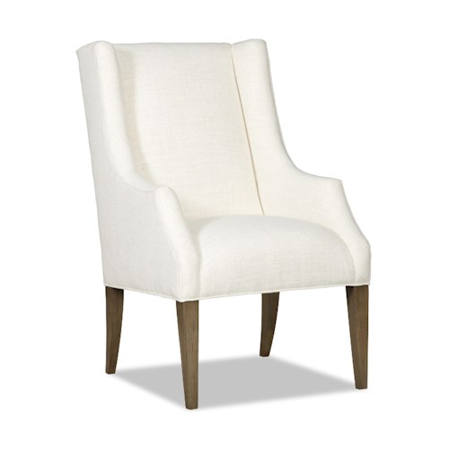Sam Moore Avery Transitional Host Chair with Tall Block Legs