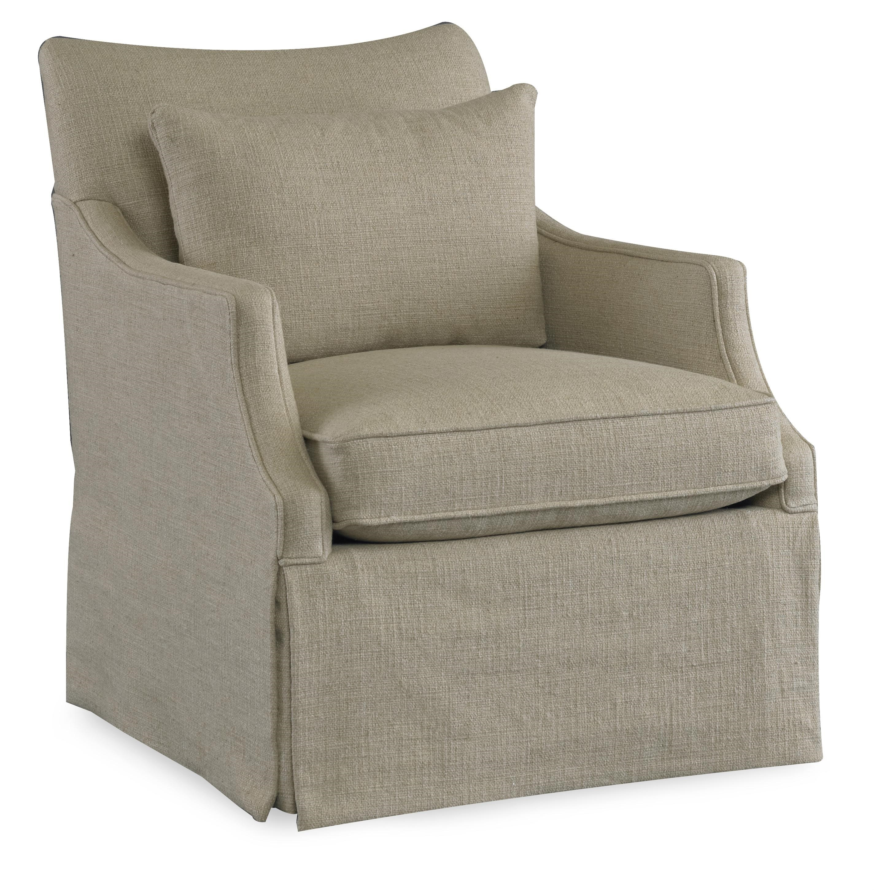 Sam Moore AzrielSkirted Swivel Glider Chair