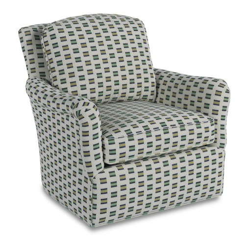 Sam Moore Birkdelle Contemporary Swivel Gliding Chair with Flair Arms