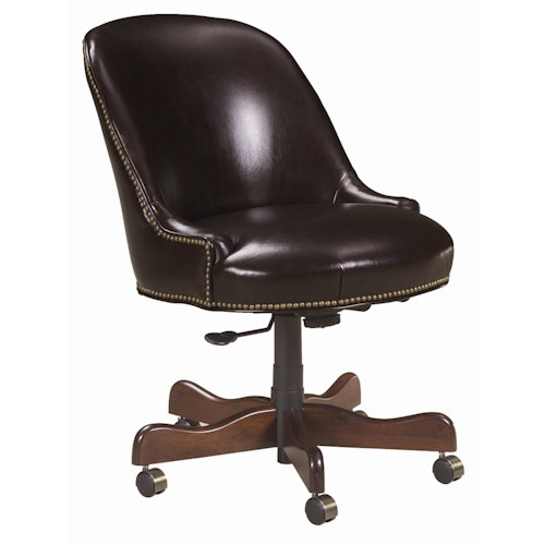 Sam Moore Blaire  Traditional Leather Desk Chair