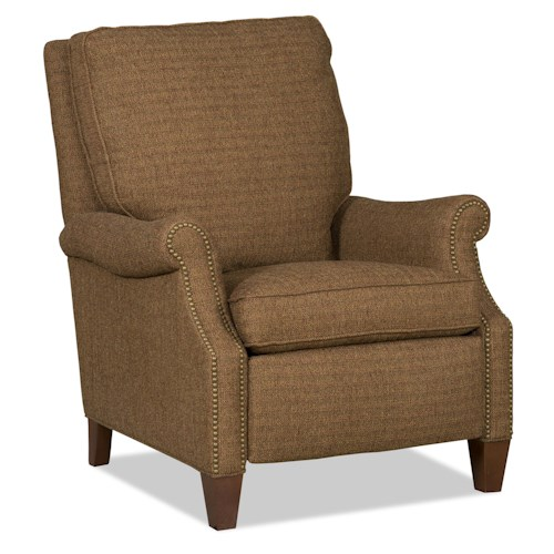 Sam Moore Brendan Transitional Reclining Chair with Nailhead Trim