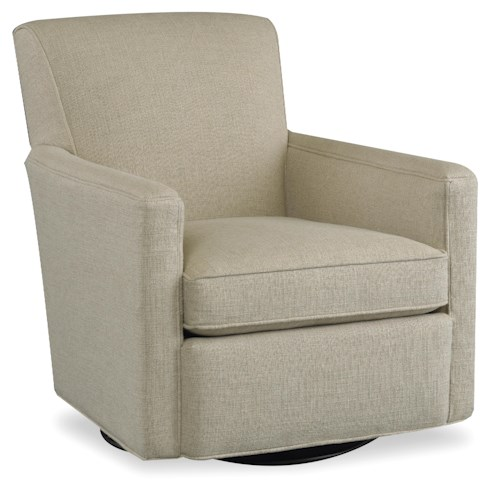 Sam Moore Cruz Casual Swivel Glider Chair with Track Arms