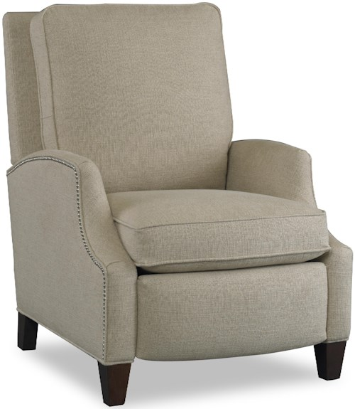 Sam Moore Demetrius Transitional Reclining Chair with Sloped Arms and Nailhead Trim