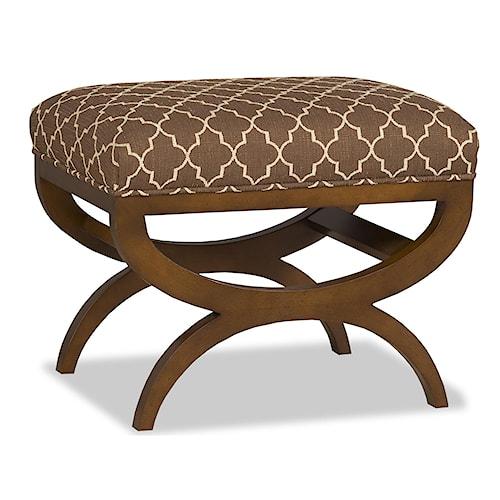 Sam Moore Esteban Modern Exposed Wood Bench Ottoman