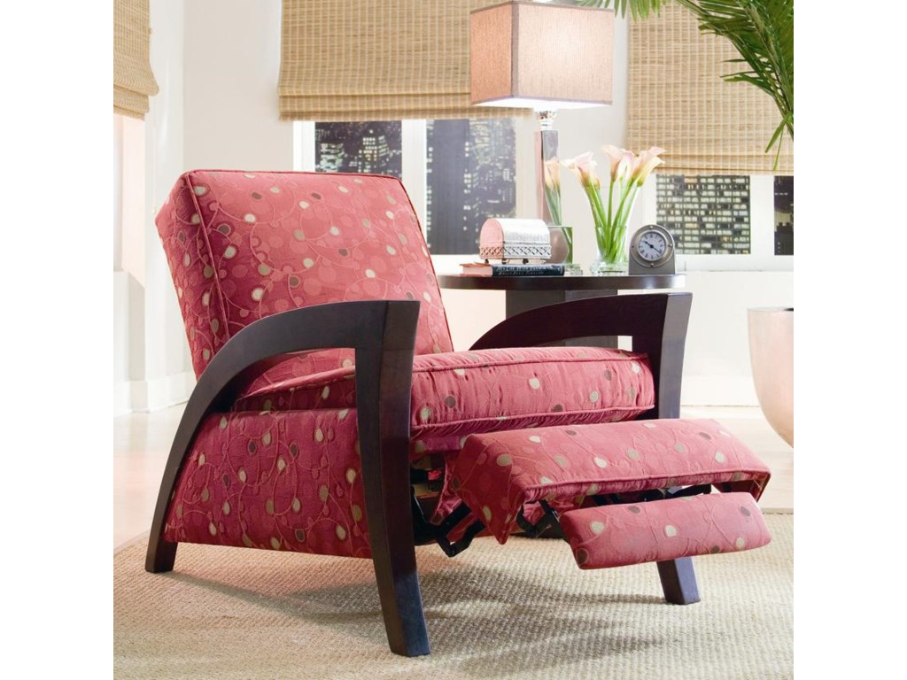 Sam Moore Grasshopper 5472 Wooden Arm Recliner Baer S Furniture