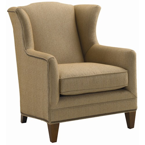 Sam Moore Harvard Wing Chair with Nail Head Trim