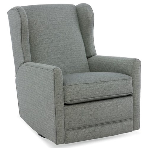Sam Moore Jada Transitional Power Swivel Glider Recliner with Wingback Design