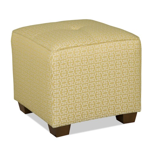 Sam Moore Karly Transitional Accent Ottoman with Exposed Wood Legs