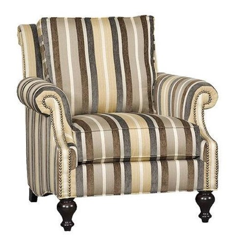 Sam Moore Kendra SM Traditional Club Chair with Plush Seat Back and Nailhead Trim
