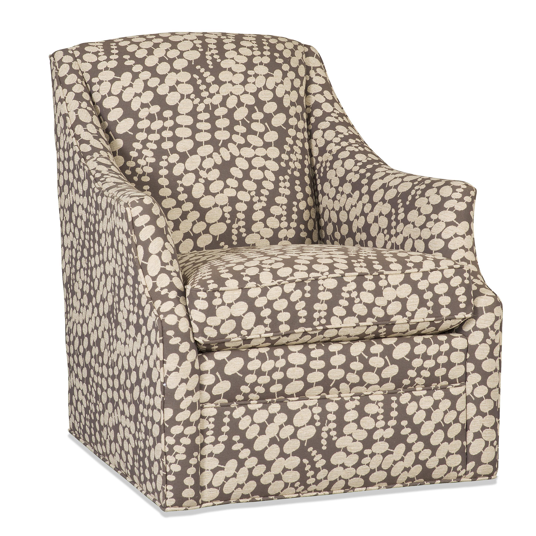 Lark Transitional Skirted Swivel Chair By Sam Moore