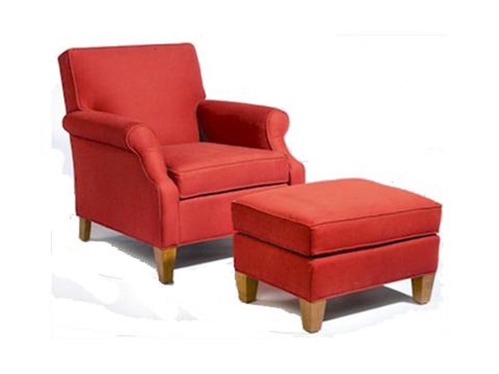 Sam Moore MercuryUpholstered Chair and Ottoman