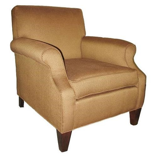 Sam Moore Mercury Upholstered Chair with Square Back