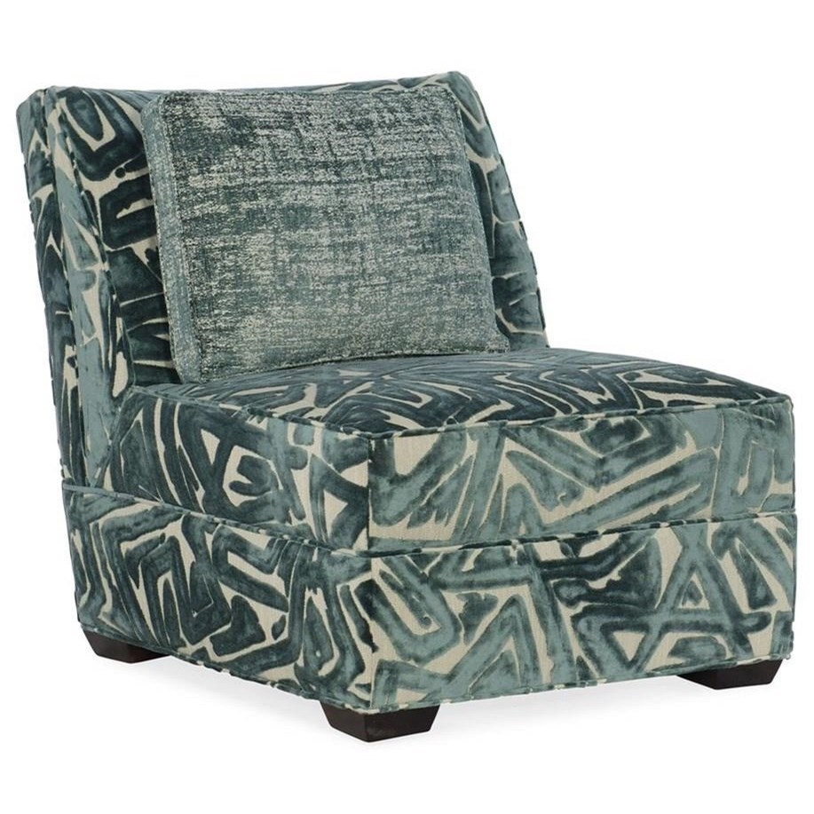 Sam Moore Milo 1418 Casual Upholstered Armless Chair With