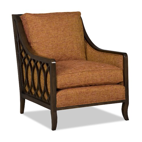 Sam Moore Myla Contemporary Exposed Wood Chair with Lattice Detailing