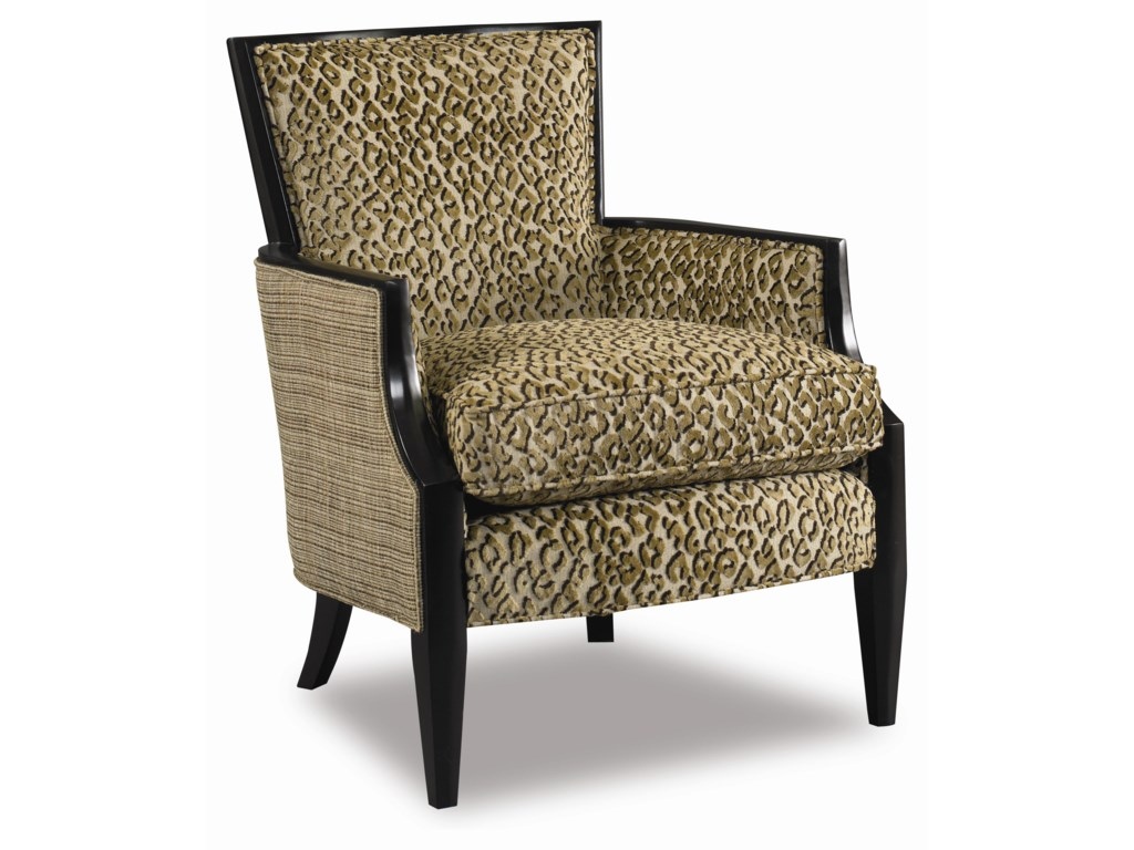 Sam Moore Nadia 4508sm Upholstered Exposed Wood Accent Chair