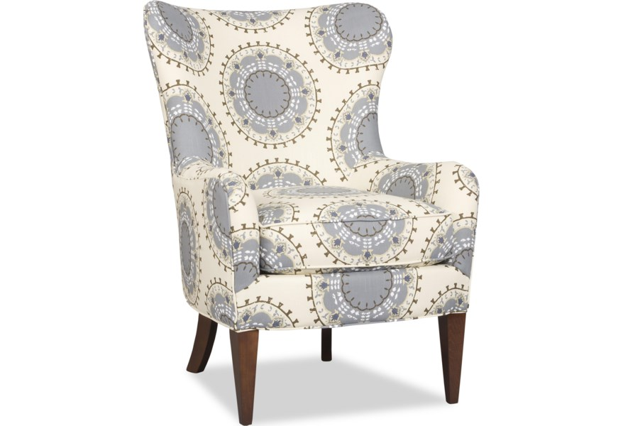 Admirable Nikko Contemporary Wing Chair With Tapered Wood Legs By Sam Moore At Dunk Bright Furniture Gmtry Best Dining Table And Chair Ideas Images Gmtryco