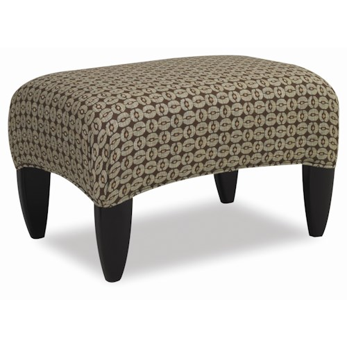 Sam Moore Picasso Sleek Contemporary Ottoman