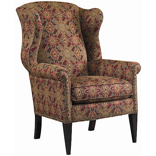 Ashley Furniture Killeen Texas: Sam Moore Remington Wing Chair With Nail Head Trim