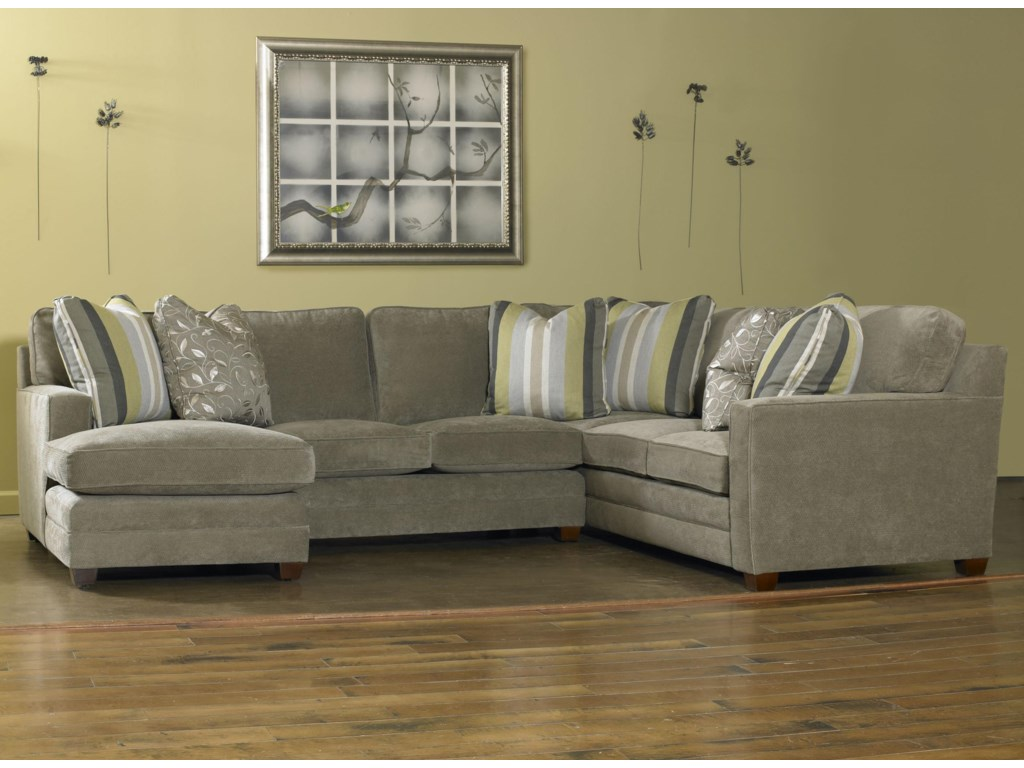 Sam Moore RickyThree Piece Sectional Sofa w/ LAF Chaise