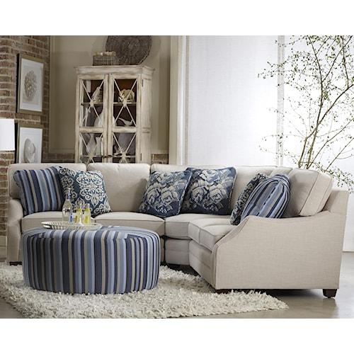Sam Moore Rita Transitinal Three Piece Sectional Sofa