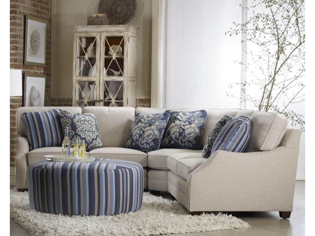 Sam Moore RitaThree Piece Sectional Sofa