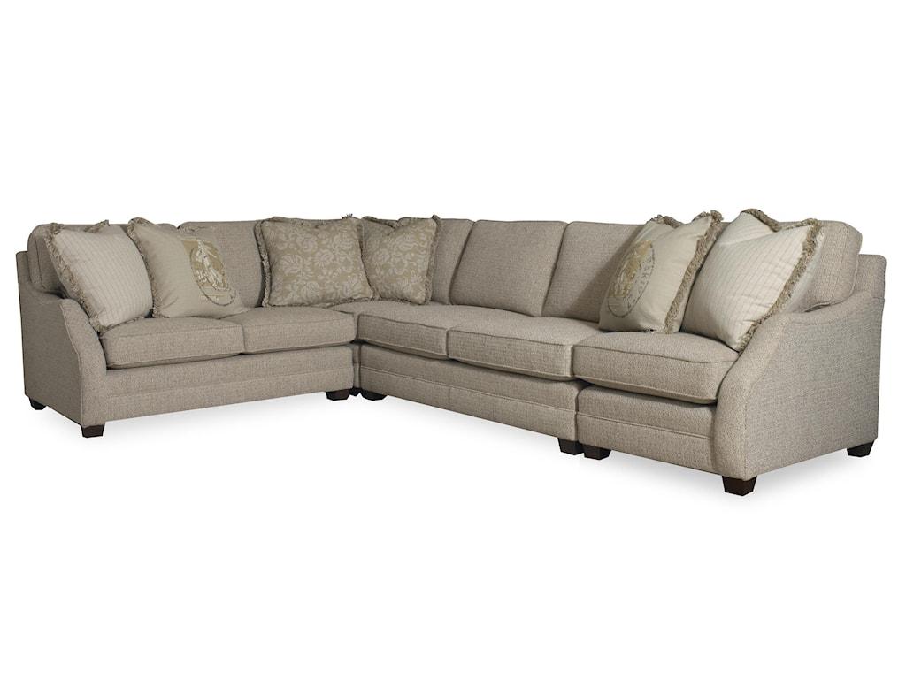 Sam Moore Rita3 Piece Sectional Sofa w/ LAF Sofa Return