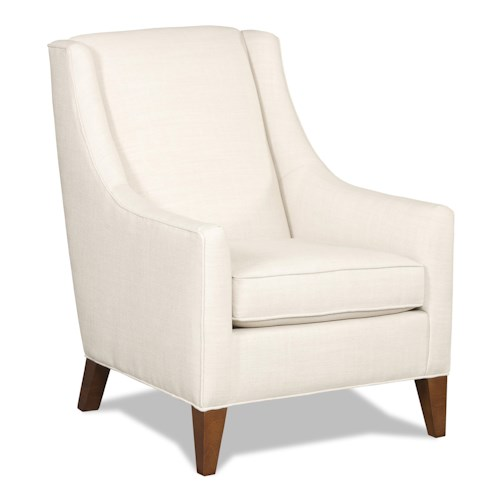Sam Moore Sheridan Contemporary Club Chair with Exposed Wood Feet