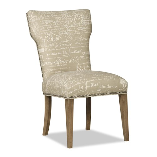 Sam Moore Sonora Transitional Upholstered Dining Side Chair with Nailhead Trim