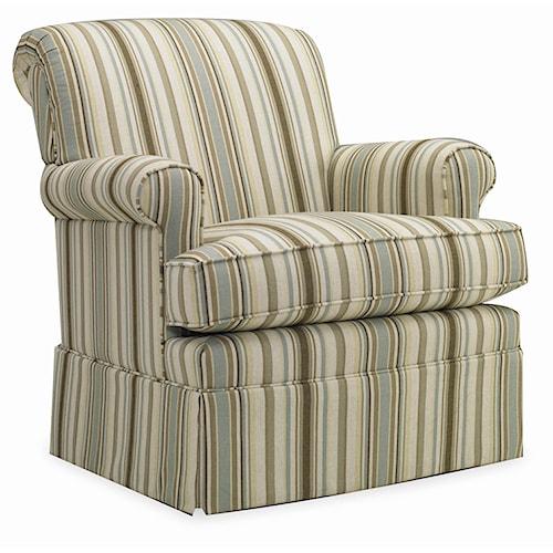 Sam Moore Thames Skirted Swivel Glide Chair