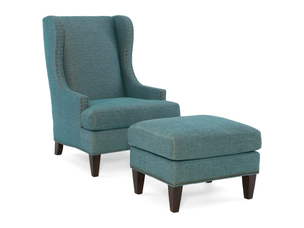 Sam Moore TobiasWing Chair and Ottoman