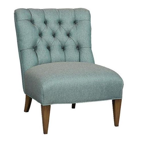 Sam Moore Winslow Armless Club Chair with Tufted Back