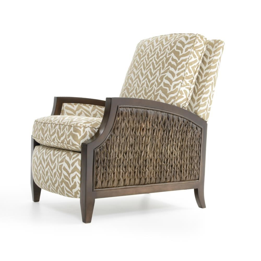 Sam Moore Zephyr Coastal High Leg Recliner with Wicker Panels - Baeru0027s Furniture - High Leg Recliners  sc 1 st  Baeru0027s Furniture & Sam Moore Zephyr Coastal High Leg Recliner with Wicker Panels ... islam-shia.org