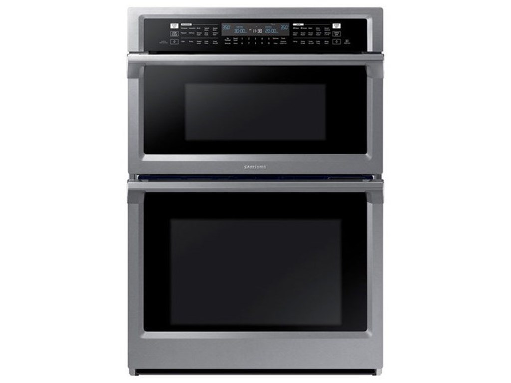 """Samsung Appliances Double Wall Ovens - Samsung30"""" Combination Microwave Wall Oven"""