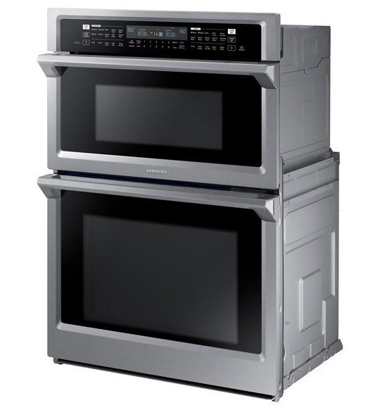"Samsung Appliances Double Wall Ovens - Samsung30"" Combination Microwave Wall Oven"