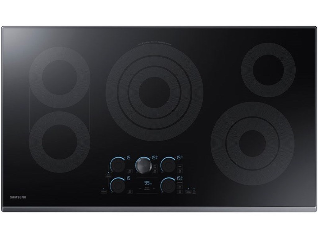 Samsung Appliances 36 Versatile Electric Cooktop With Sync Burners Sheely S Furniture Appliance Cooktop Electric