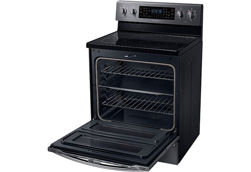 Electric Range- Samsung 5.9 cu. ft. Electric Flex Duo® Range with Soft  Close and Dual Door™ by Samsung Appliances at Furniture and ApplianceMart