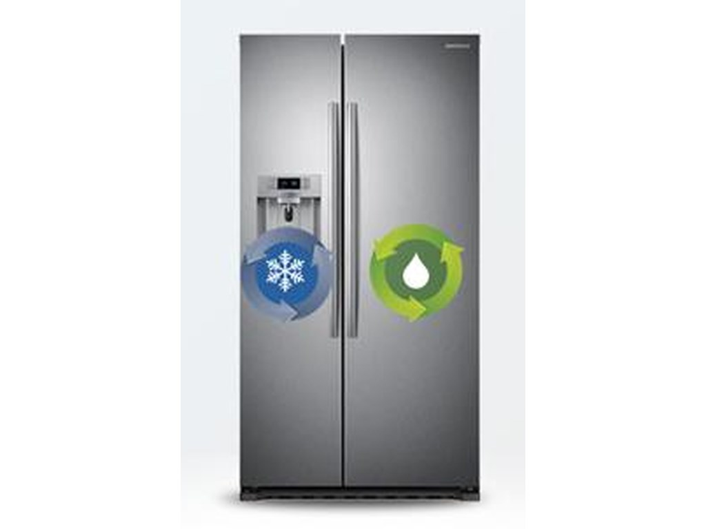 Samsung Appliances Side-By-Side Refrigerators22cu.ft. Counter Depth Side-by-Side Fridge