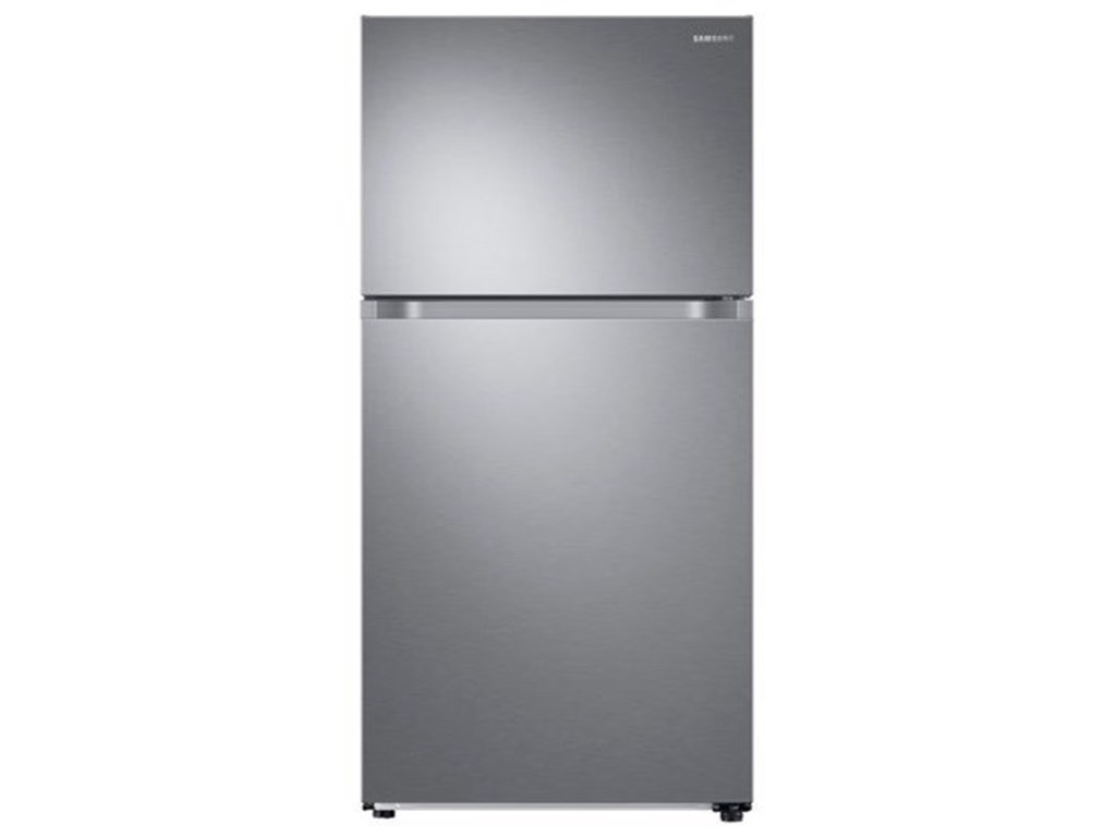 Samsung Appliances 21 Cu Ft Capacity Top Freezer Refrigerator With Flexzone And Automatic Ice Maker Sheely S Furniture Appliance Refrigerator Top Freezer