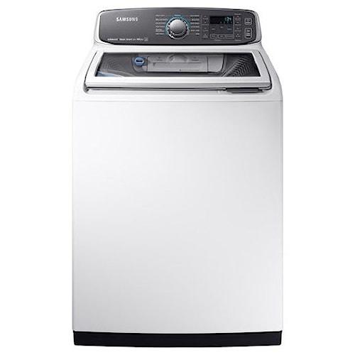 Samsung Appliances Top Load Washers - Samsung WA7750 5.2 cu. ft. Top Load Washer